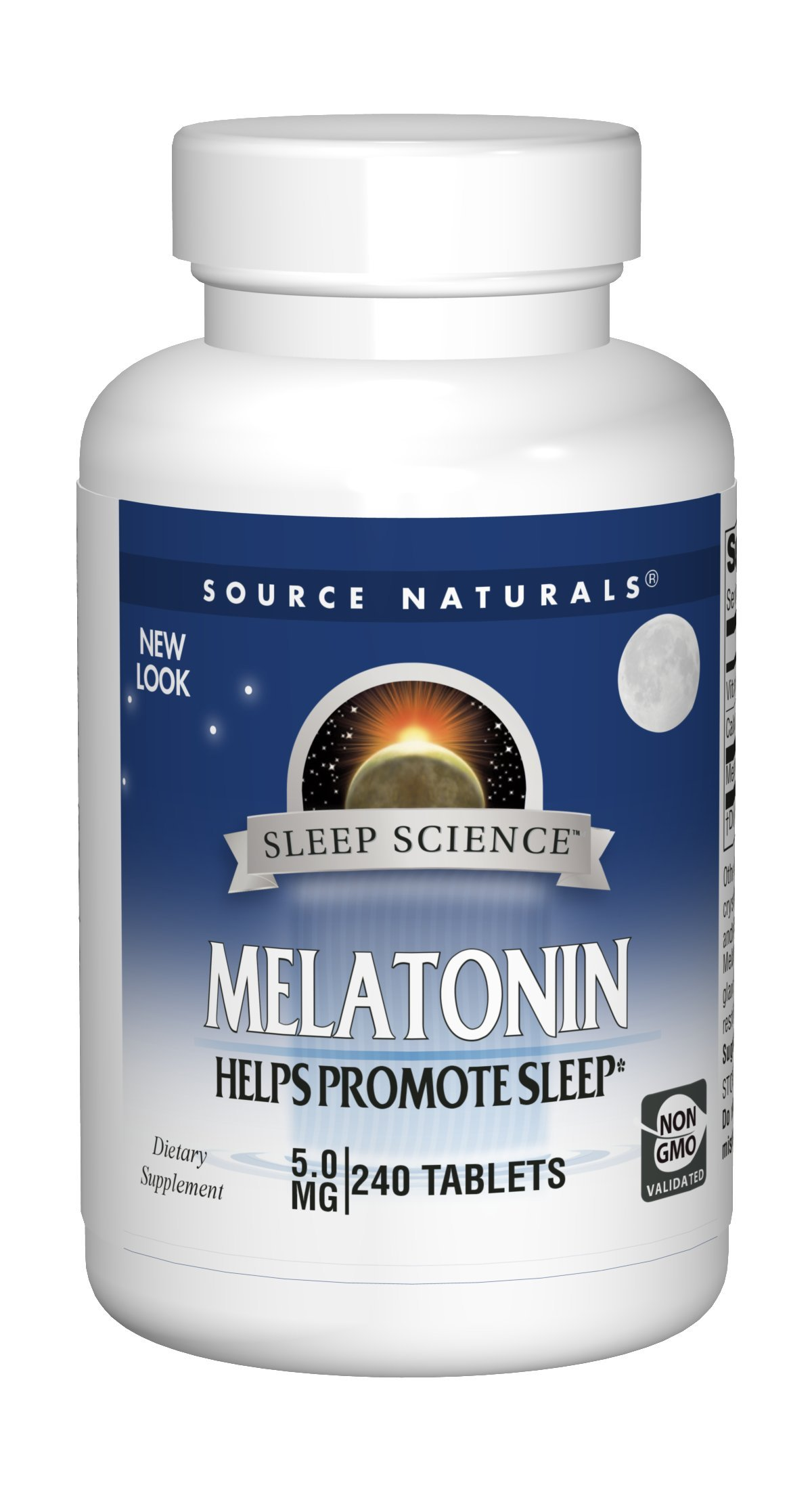 Source Naturals Sleep Science Melatonin 5mg Promotes Sleep and Relaxation - Supports Natural Sleep/Wake