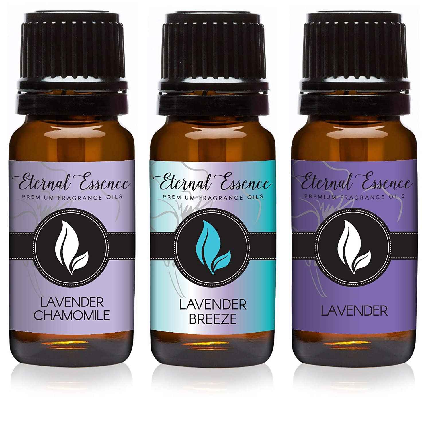 Trio (3) - Lavender Chamomile, Lavender Breeze & Lavender - Premium Fragrance Oil Trio - 10ML
