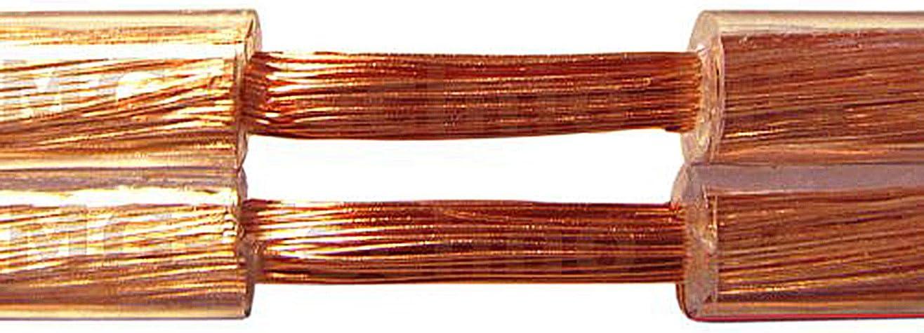 MADE IN GERMANY 20m Cable de altavoz 2x4mm/² cobre genuino ronda trasparente modelo 7350