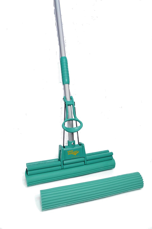 "The Super Jumbo 16"" PVA Sponge Mop Set (Mop and 1 Extra Refill)"