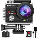 【2020 Upgrade】Campark 4K 20MP Action Camera EIS External Microphone Remote Control WiFi Waterproof Camera with 170° Wide Angl