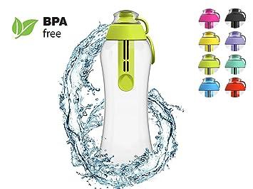 PearlCo filtro de agua botella filtro de 0,5 l – Incluye 1 filtro verde