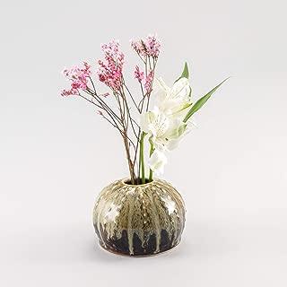 product image for Georgetown Pottery Handmade Sea Urchin Ikebana Vase, Bud Vase, Air Plant Pot, Candlestick Holder, Nuka, Made in USA, Porcelain Ceramic