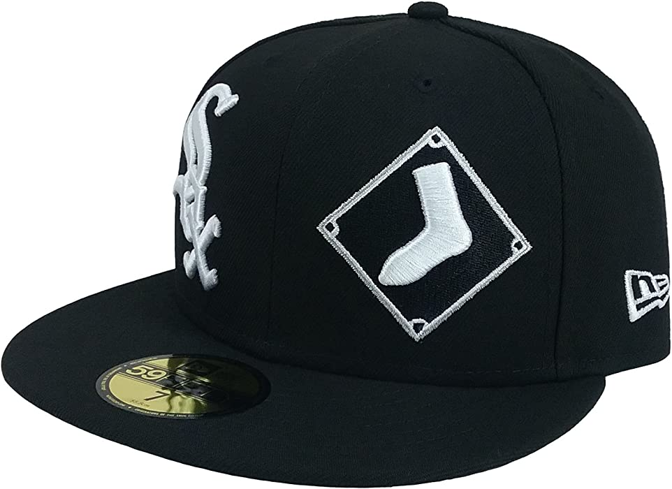 innovative design 83d4d cc960 ... promo code for new era 59fifty hat mlb chicago white sox 1901 heritage  patchd up black