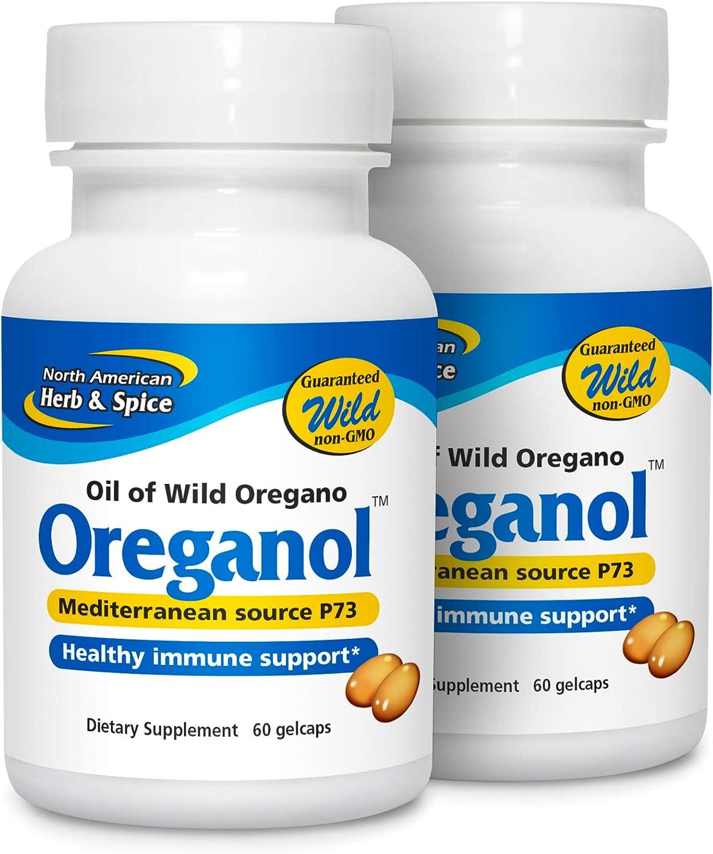 North American Herb Spice Oreganol P73 2 Pack 60 Softgels Immune System Support Unprocessed Vegan Friendly Wild Oregano Mediterranean Source Non Gmo 120 Total Servings Health Personal Care
