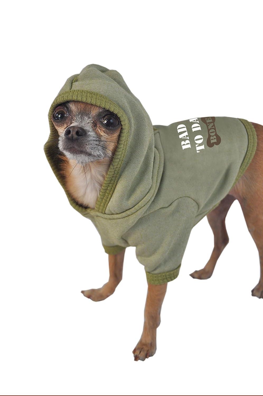 Ruff Ruff and Meow Dog Hoodie Green Bad to Da Bone Extra-Large