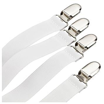 Betttuchspanner Weiß Bettlakenspanner 4er Set für Matratze Spanner Bettlaken