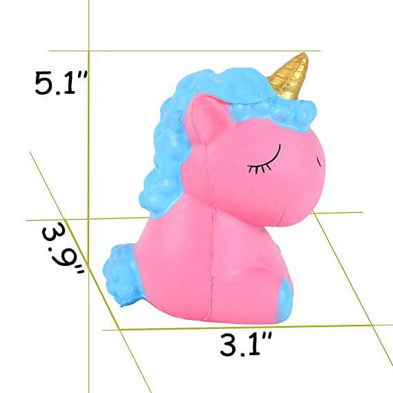 Amazon.com: Vigeiya Squishies Unicornio Lento Elevación ...
