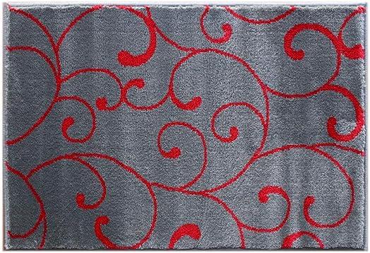 Masada Rugs, Stephanie Collection Area Rug Modern Contemporary Design 1105 Red Grey 2 Feet X 3 Feet Mat