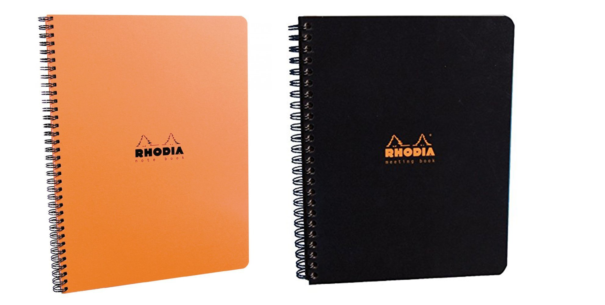 Rhodia Meeting Books 8.85 X 11.69 Inches, Pack of 2, Black and Orange