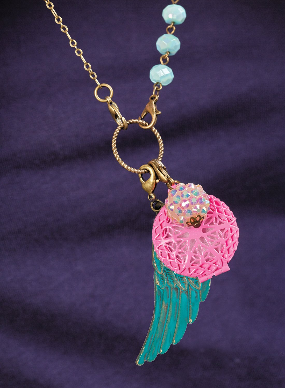CRAFTIVITY AromaJewelry Lovely Lockets - Essential Oil Jewelry Making Kit by CRAFTIVITY (Image #8)