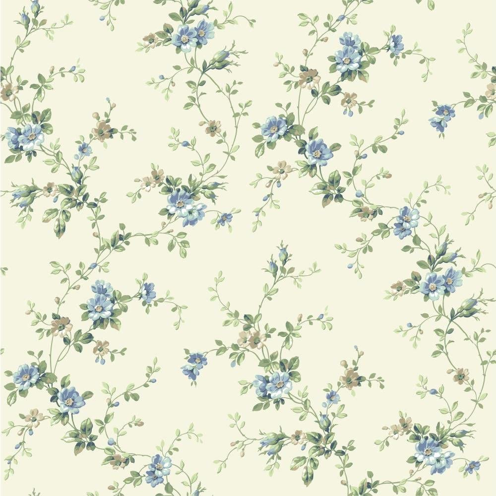 Amazon Com York Wallcoverings Ba4519 Casabella Ii Floral Trail