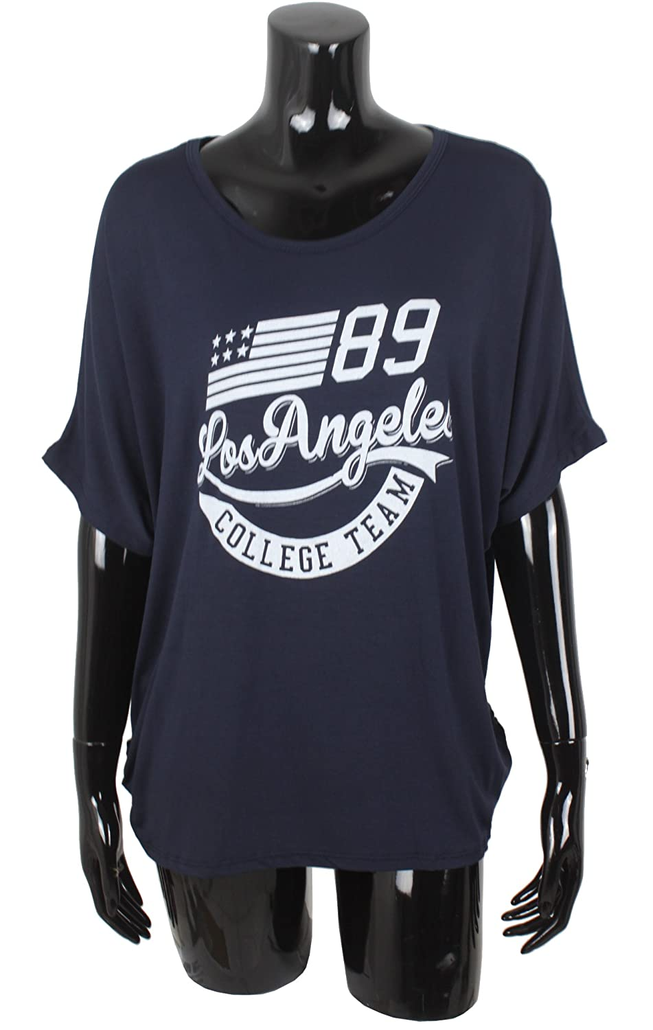 Emma /& Giovanni Oversize T-Shirt//Top Los Angeles Donna