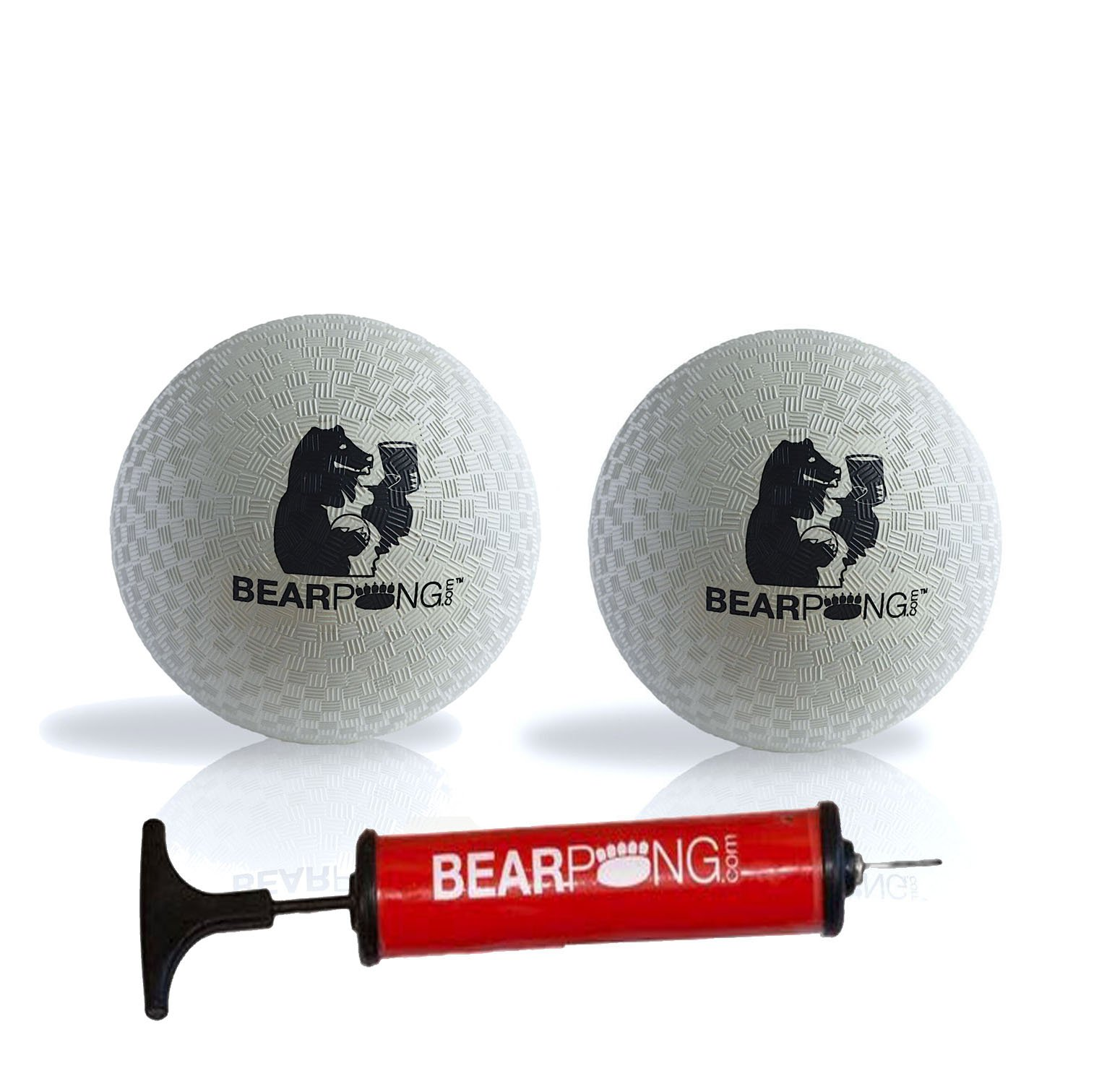 Bearpong Set of 2 Rubber 4'' Wind Balls with Pump by Bear Pong