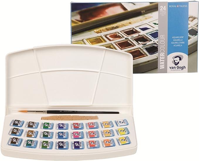 24 color set plastic case case Van Gogh watercolor solid (japan import): Amazon.es: Juguetes y juegos