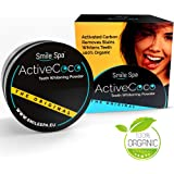 Blanqueamiento dental de carbón activado ActiveCoco | 30 g de carbón activado en polvo | El blanqueamiento dental | activated charcoal | Active Coco | Pasta dental de carbón activado