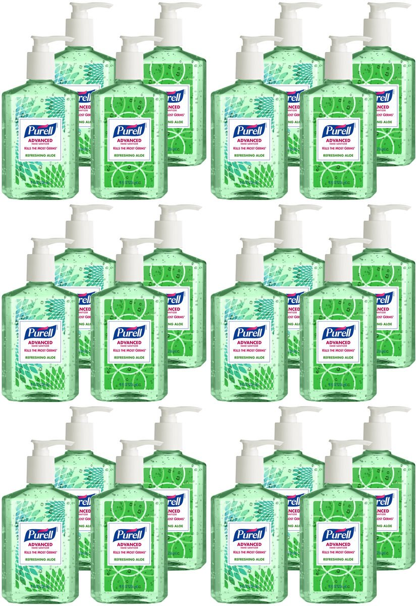 Purell 9674-06-ECDECO Advanced Design Series Hand Sanitizer, 8 oz Bottles (Pack of 24) by Purell