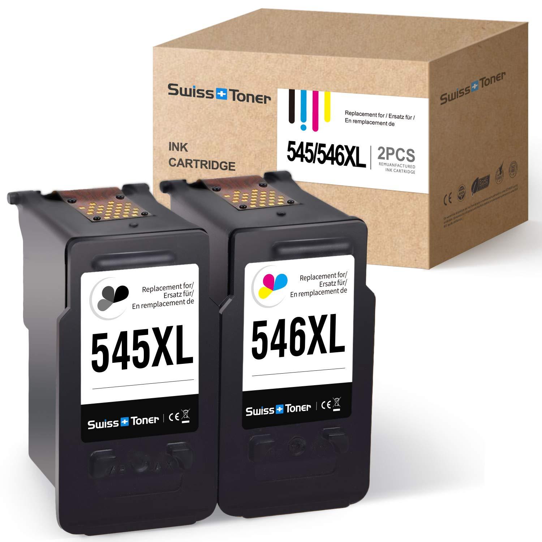 SWISS TONER Rigenerate 545XL 546XL Compatible con Canon PG ...