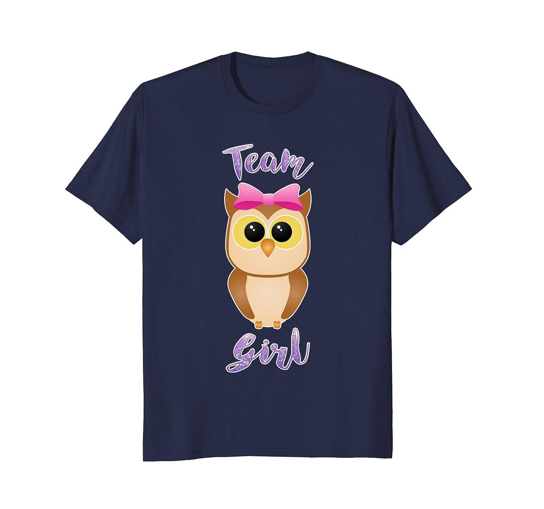 Gender Reveal | Team Girl, Owl, Pink T Shirt-AZP