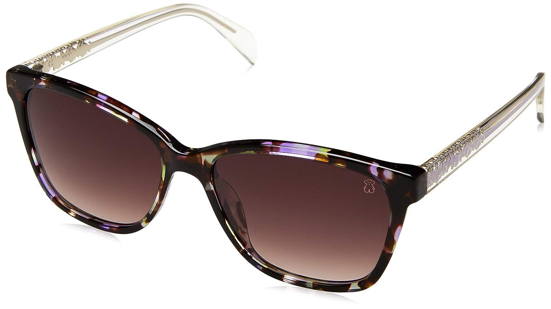 Tous STOA07-5505AH Gafas, Morado/Verde/Marrón, 55/16/135 para Mujer
