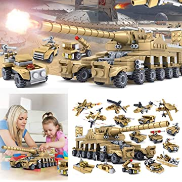1PC Tank Puzzle Stacking Blocks Toys Set for Kids Children (Random)