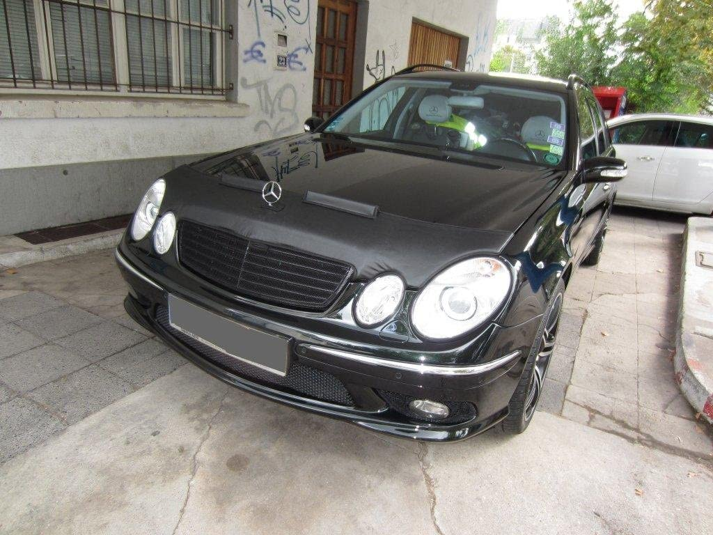 HOOD BRA Front End Nose Mask for Mercedes MB E-Class W211 2002-2006 Bonnet Bra STONEGUARD PROTECTOR TUNING