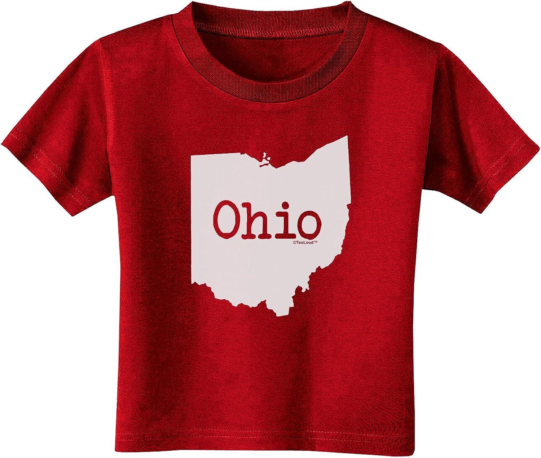 TooLoud Ohio United States Shape Toddler T-Shirt Dark