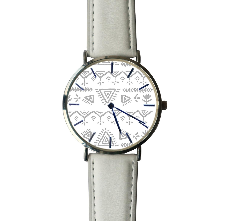 de632de4c Amazon.com: JISJJCKJSX Gray and White custom watches quartz watch stainless  steel case: Home & Kitchen