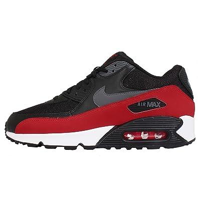 0fee2da2c NIKE AIR MAX 90 ESSENTIAL Men's Running Shoes Sneakers 537384-062 Color :BLACK/DARK GREY-BLK-UNVRSTY RD M US 9: Amazon.in: Shoes & Handbags