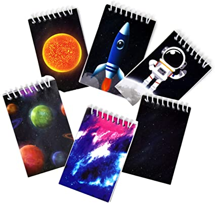Just4fun 2 Dozen Outer Space Mini Spiral NOTEBOOKS Party FAVORS PLANETS 24 Science SOLAR SYSTEM Classroom TEACHER Rewards GALAXY