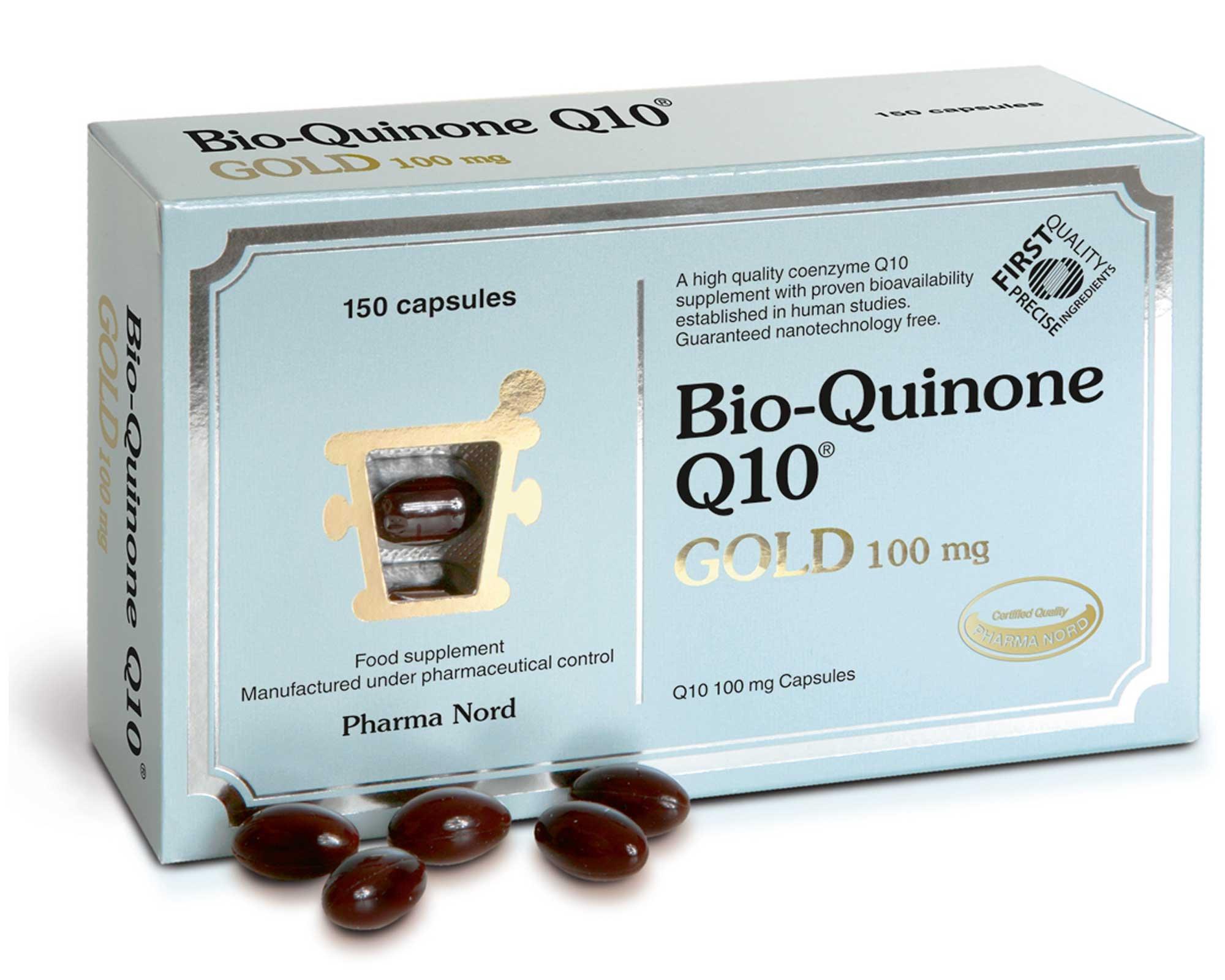 Pharma Nord Bio-Quinone Q10 Gold Capsules 100mg 150 Capsules