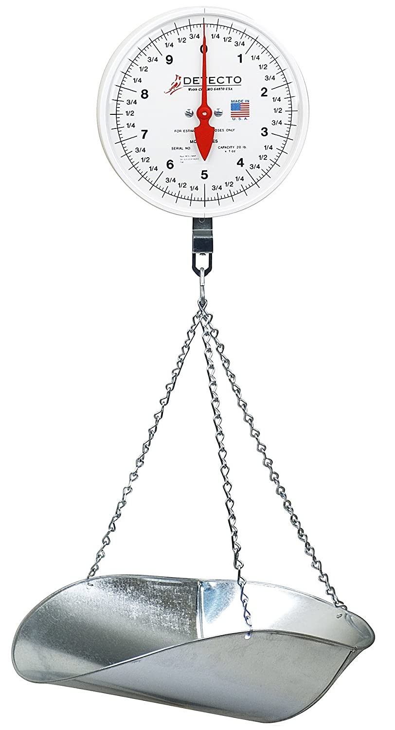 Detecto MCS-40P Hanging Dial Scale, 40 lb. Capacity, Scoop Detecto Scale Company