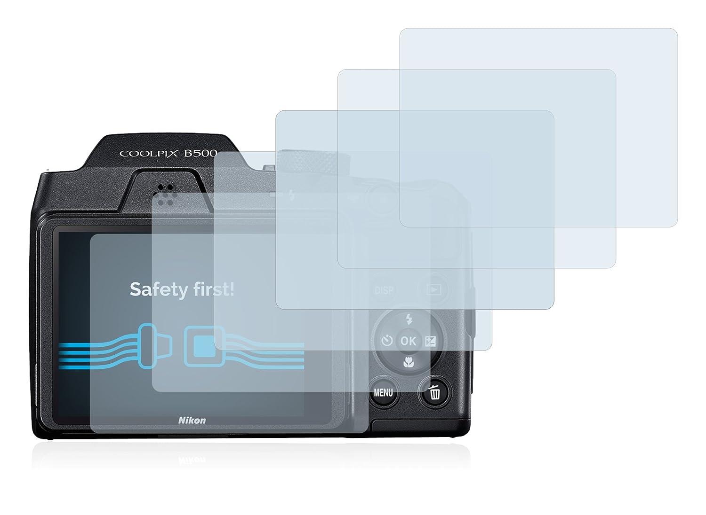 6x Displayschutzfolie Nikon Coolpix B500 Schutzfolie Klar Folie Displayfolie