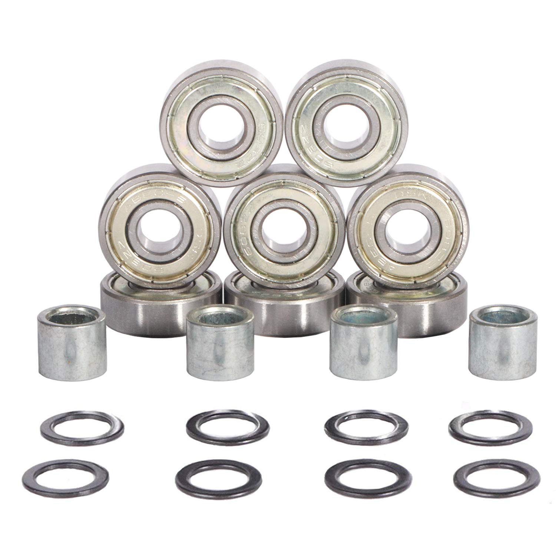 Pack of 10 Skateboard Scooter Ball Roller Ball Bearings Skate Bearings Wheels Metal For For Inline Skate or SkateBoard or Scooter Sliver