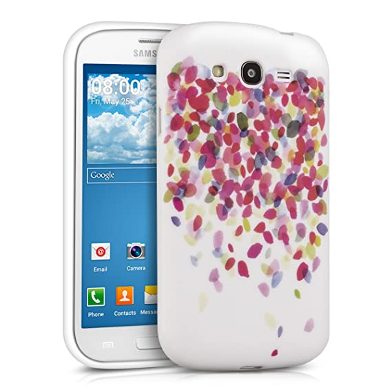 low priced 18e79 7e415 kwmobile TPU Silicone Case for Samsung Galaxy Grand Neo/Duos - Soft  Flexible Shock Absorbent Protective Phone Cover - Multicolor/Dark Pink/White
