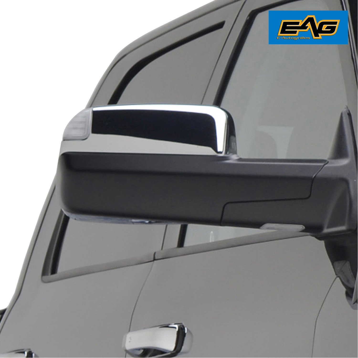 EAG 09-16 Dodge Ram 1500 10-16 Dodge Ram 2500//3500 Towing Mirror Cover Triple Chrome Plated ABS Upper Half