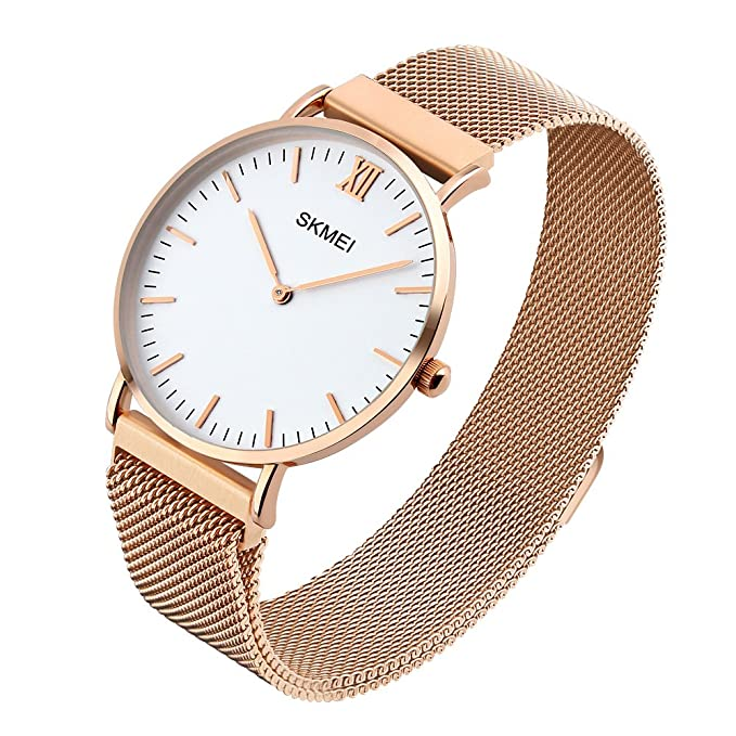 Amazon.com: Womens Business Analog Quartz Watch with Light Weight Stainless Steel Waterproof Wrist Watches - Gold: Watches