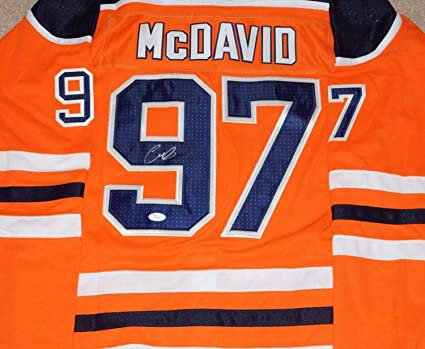 new concept 8f225 8e7ad Connor Mcdavid Autographed Signed Edmonton #97 Jersey/Nhl ...