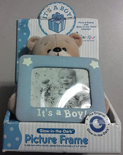 Glow In The Dark Picture Frame Its A Boy 3 X 4 Amazonca