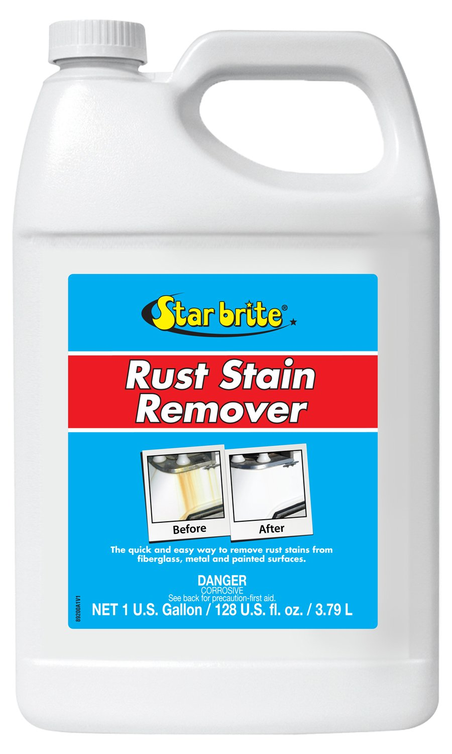 Star brite Rust Stain Remover - Easily Clean Corrosion Stains Off Fiberglass, Vinyl, Metal & Painted Surfaces