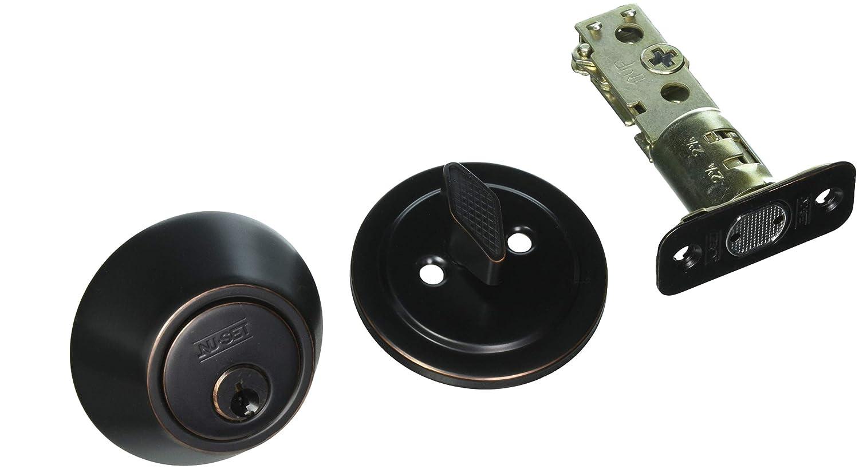 NuSet Oil Bronze Single Cylinder Deadbolt, 6 Pack, Same Key, Kwikset Keyway NU-SET 4105-2