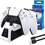 PS5 Controller Charger, Playstation 5 Controller Charging Station, Fast Charging Dock Compatible with Sony Playstation 5 Dual