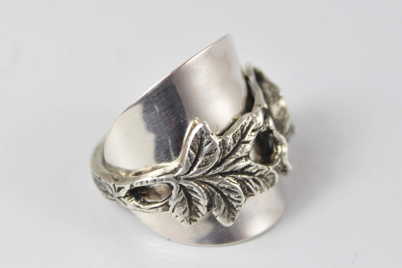 ROSEN Ring 800er Silber Besteck Schmuck Ring, ca. 57 (18,2