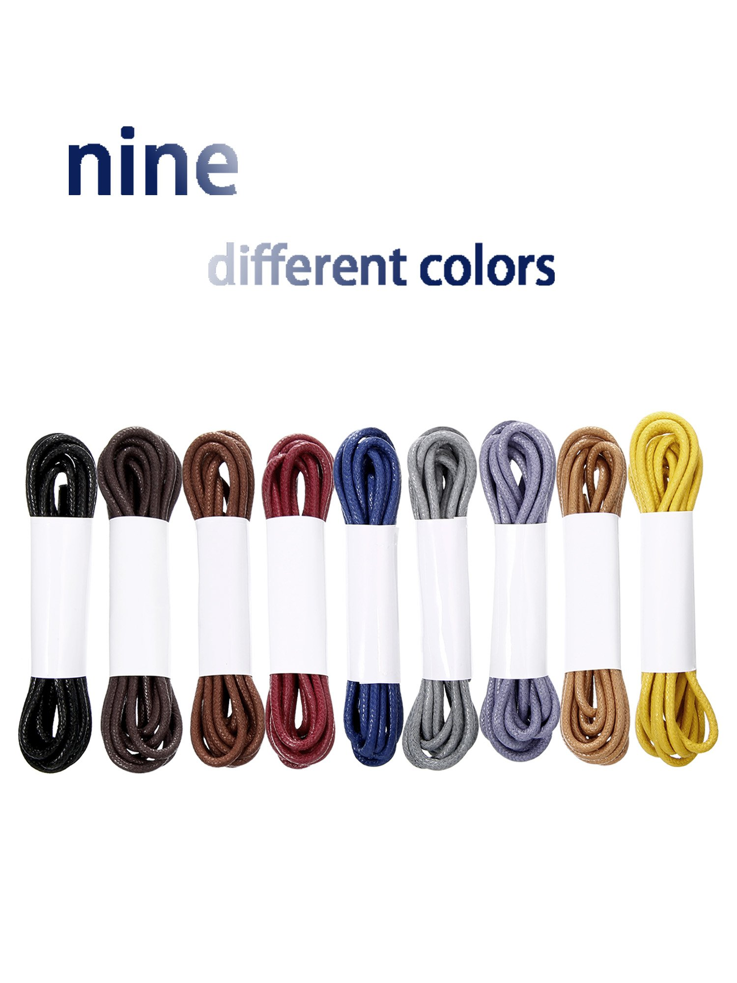 Jovitec Waxed Oxford Shoelaces Cotton Round Waxed Shoe Laces for Dress Shoes, 9 Colors by Jovitec (Image #2)