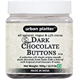 Urban Platter All Natural, Dairy-Free and 55% Cocoa Vegan Dark Chocolate Buttons, 350g