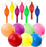 RUBFAC 36 Punch Balloons, Neon Punching Balloons with Rubber Band Handles, 18 Inch, Various Colors Punch Balls, Suitable…
