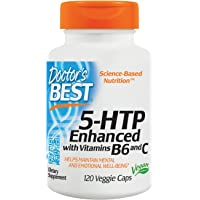 Doctor's Best 5-HTP Enhanced with Vitamins B6 and C, Non-GMO, Vegan, Gluten Free, Soy Free, 120 Veggie Caps