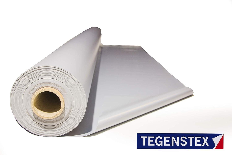 fabricada en Alemania Disponible en varios colores y de 2,5 m de ancho Se vende por m2 Lona de PVC de 650/g