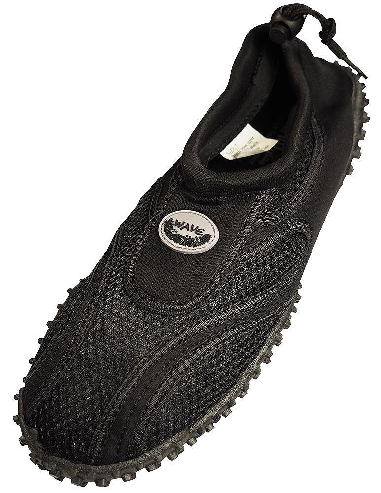 The Wave - Mens Aqua Shoe, Black 37137-7D(M) US-FBA