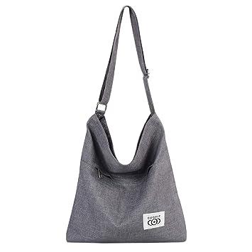 a532c1176d25 COOFIT Canvas Tote Bag, Crossbody Bags for Women Canvas Casual Handbag  Canvas Bags Shoulder Bags